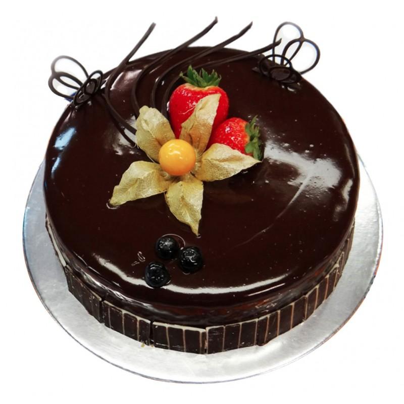 Eggless Belgian Chocolate Cake