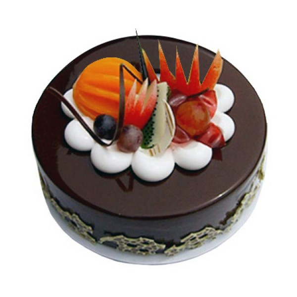 Chocolate Fruit Gateau Half Kg