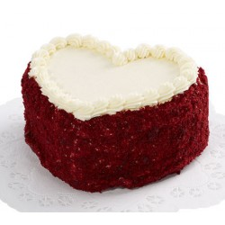 Red Velvet Heart Cake 1 Kg
