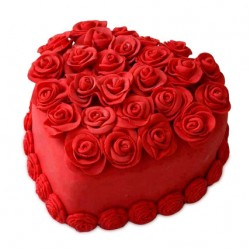 Chocolate Hot Red Heart Cake Half Kg