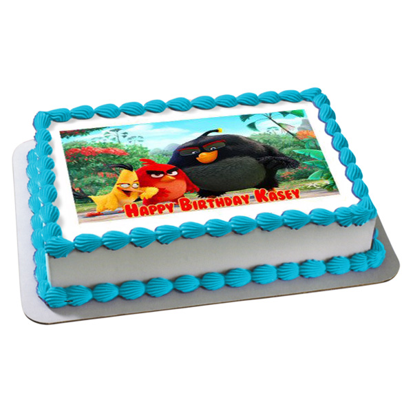 Angry Birds Pineapple Photo Cake