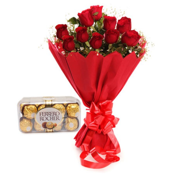 Rochers With 10 Roses