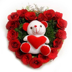 Roses And Soft Toy