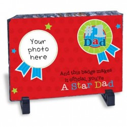 Star DAD Personalised Granite Stone