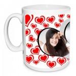 Pretty Hearts Personalised Mug