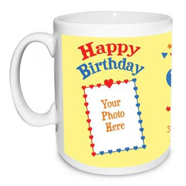 Chic Birthday Photo Mug