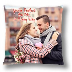 You Are Perfect Personalised Canvas Cushion