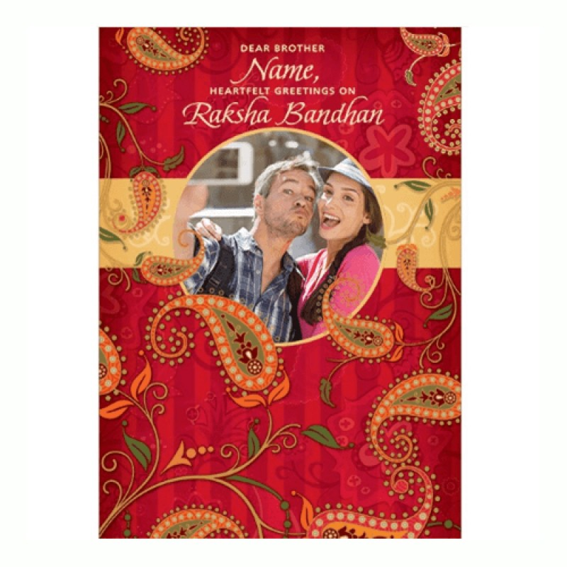 Rakhi personalized greeting card florists in india new rakhi personalized greeting card m4hsunfo